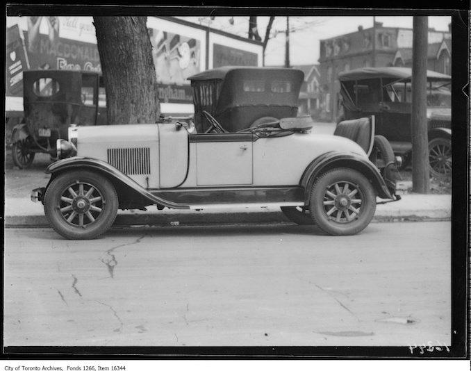 Philmac motors, Oldsmobile roadster. - May 1, 1929