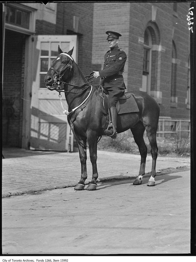 Police Constable Cooper (198), mounted, new uniform. - March 27, 1929