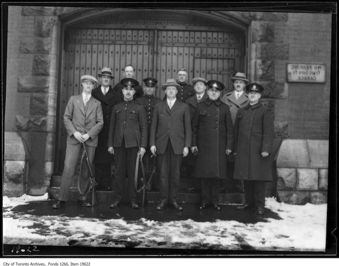 Police Rifle Meet, No. 5 Division team. - March 25, 1930