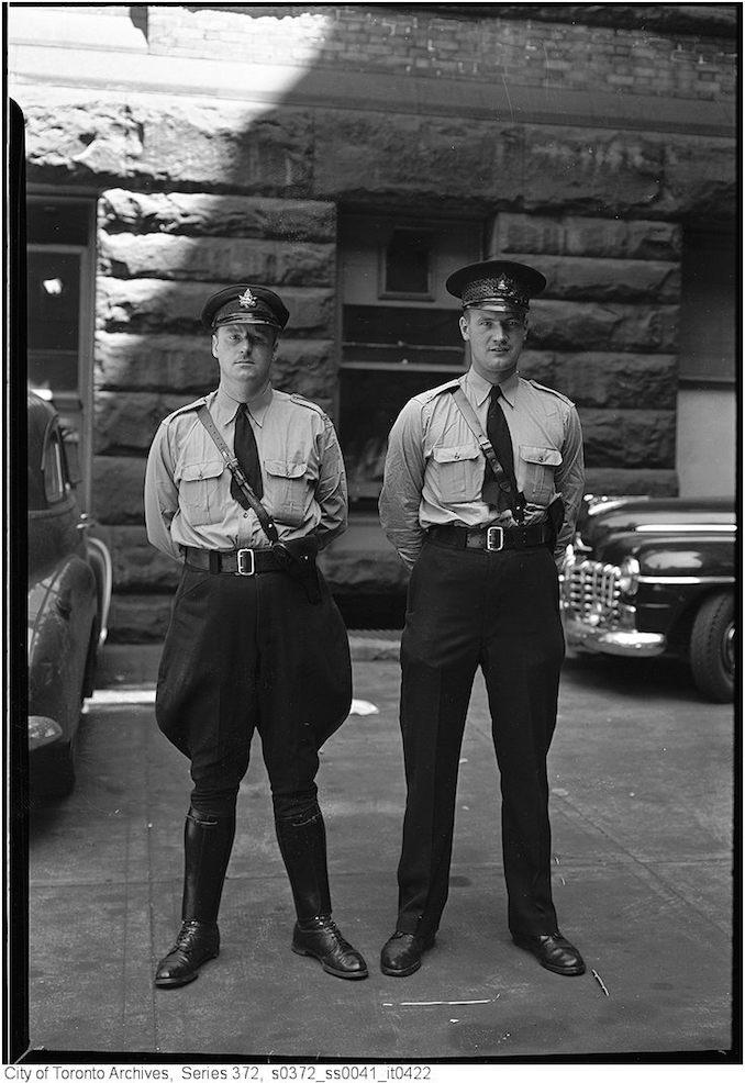 July 7, 1949 Police constables - John B. Brown #580 James Warden #785.jpg