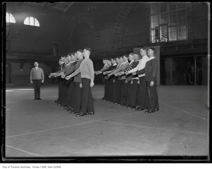 Police training, drilling. Date: January 22, 1931
