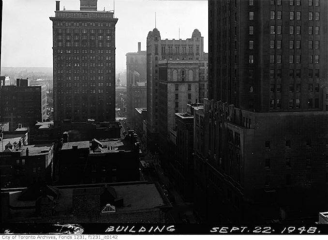 Toronto aerial view 1948