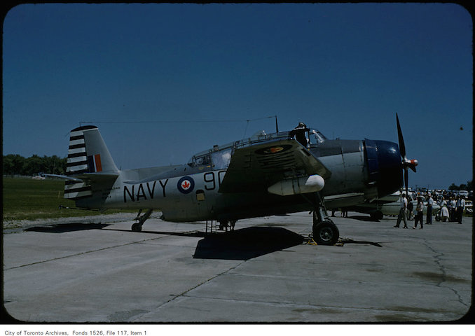 View of the Avenger plane at Malton airport - June 9, 1957