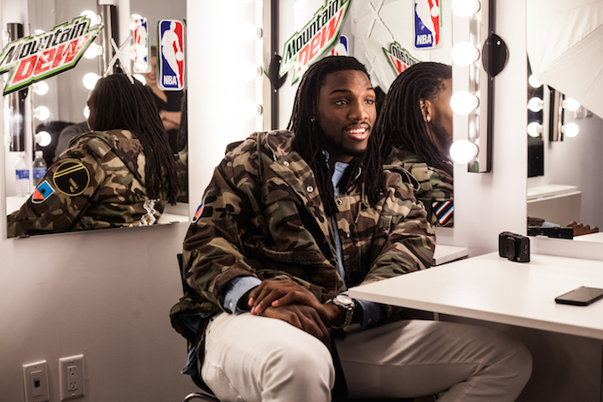 Kenneth Faried at NBA Mountain Dew Event by Joel Levy for Toronto NBA All-Star weekend
