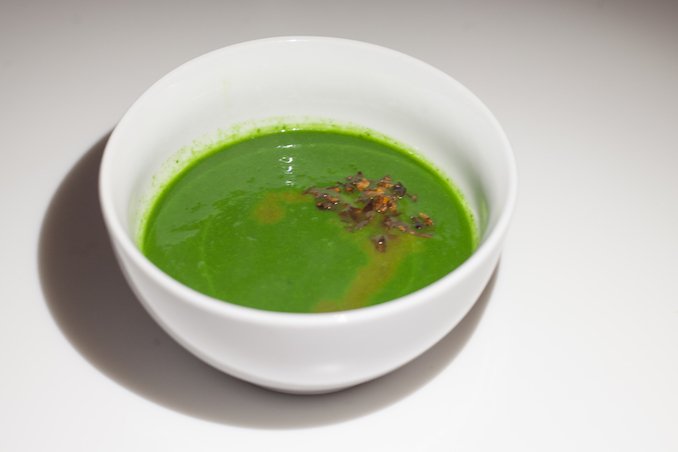 Green Soup Dulse, Leek, Sumac