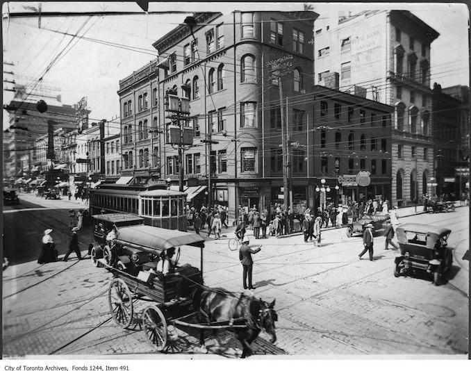 Northeast corner of King Street and Yonge Street. - [ca. 1912]