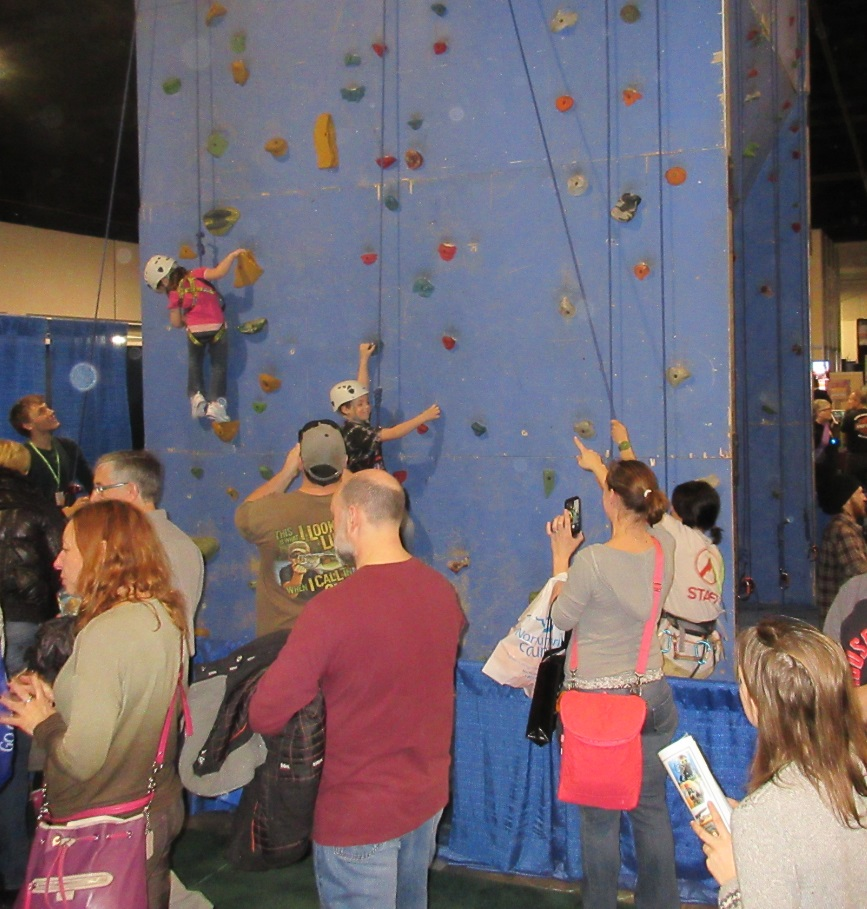 Outdoor Adventure Show rock wall climbing