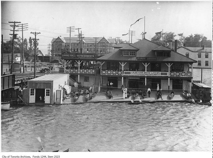 Boat livery and restaurant, Humber River . - 1910 Vintage Restaurant Photographs
