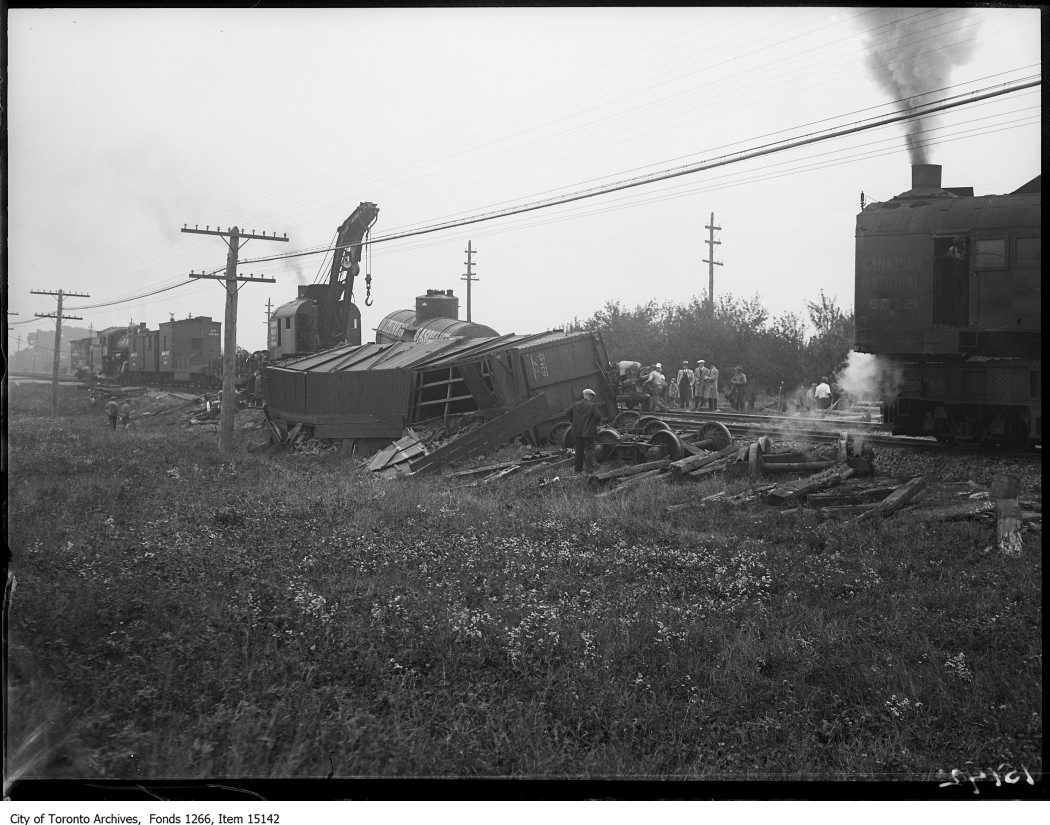 Aldershot train wreck, general view of wreck. - October 4, 1928