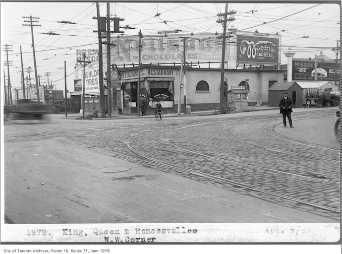 April 7, 1923 - Sunnyside RestaurantKing, Queen and Roncesvalles, north-west corner