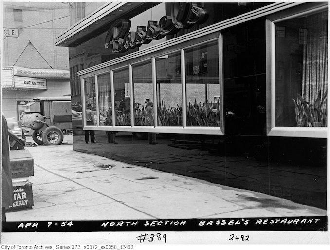 April 7, 1954 - 389 Yonge Street (Bassel's Restaurant)
