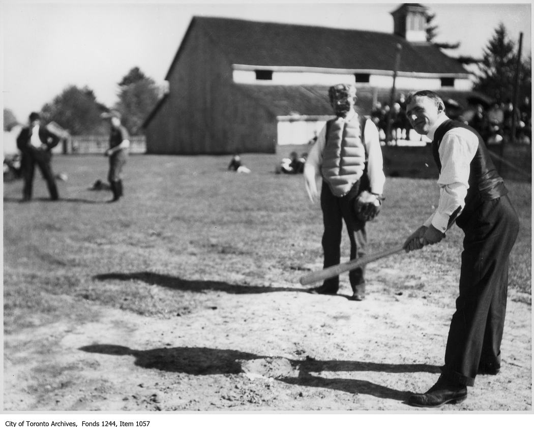 Baseball game, Oakville. - 1908 vintage baseball photographs