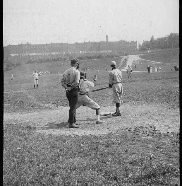 Baseball players, Riverdale Park - 193? vintage baseball photographs