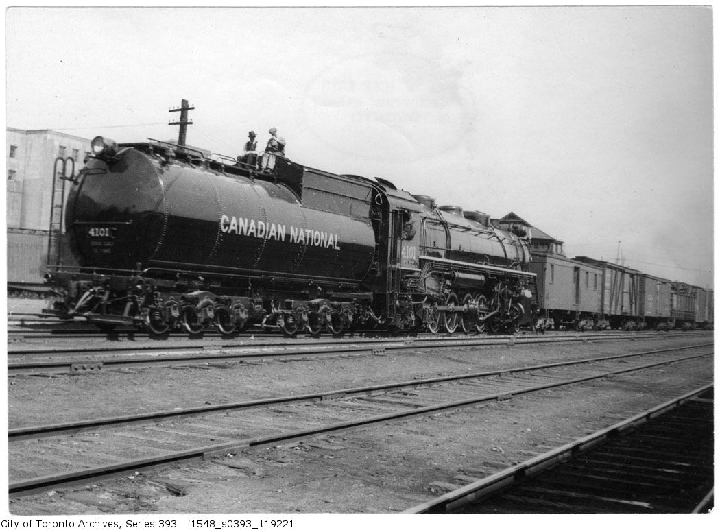 CNR new freight engine train - vintage train photographs
