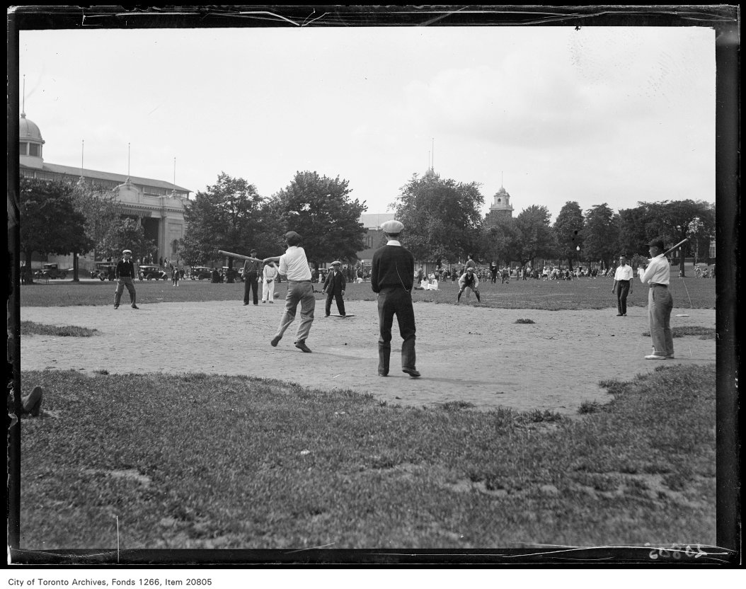 Chinese picnic, baseball game june 20 1930 vintage baseball photographs