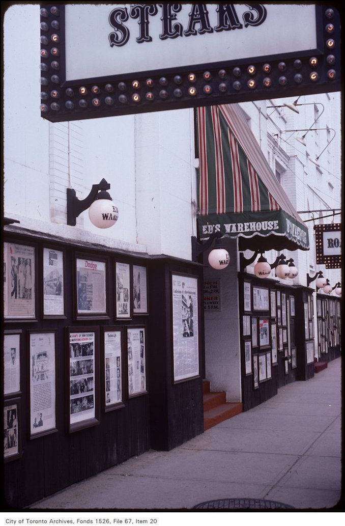 "King St W - ""Ed's Warehouse"" restaurant - outside - oct. 9, 1981"