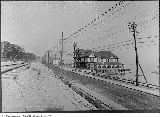 P.V. Meyer & Co. Restaurant, 1801 Queen Street West looking east - July 28, 1911 Vintage Restaurant Photographs