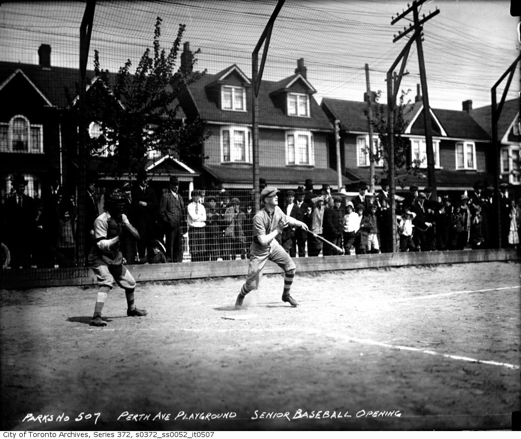 Perth Avenue Playground — Senior Baseball, Opening may 15 1915