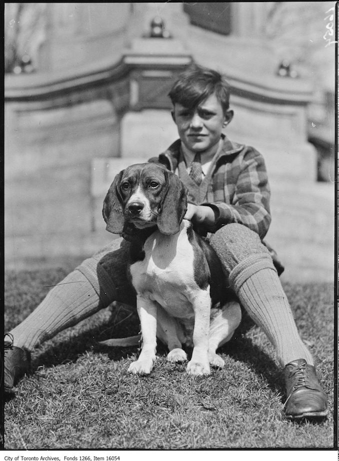Pets Parade, Mickey, Charlie Ellis, age 13. - April 2, 1929 - Vintage Animal Photographs