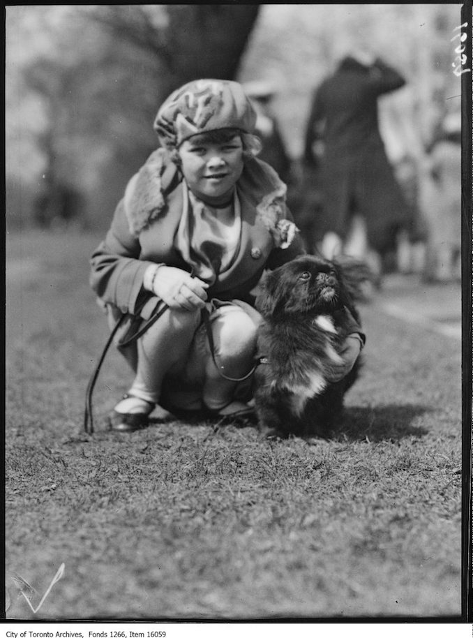 Pets Parade, [Son Hi], Joan [Lemon], age 6. - April 2, 1929 - Vintage Animal Photographs