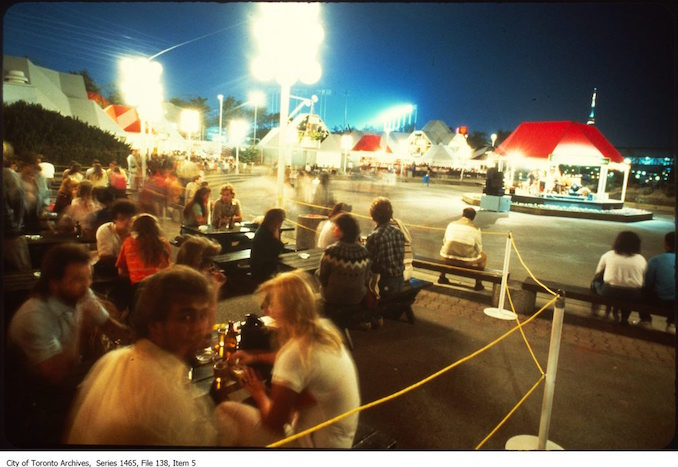 Restaurant patios at Ontario Place or marina - 80s
