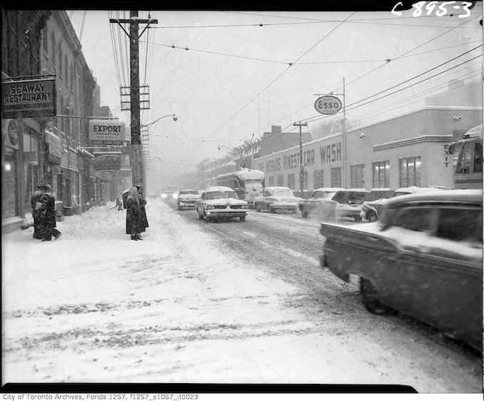 Seaway Restaurant - King Street West near John Street during snow storm - jan 26 1961