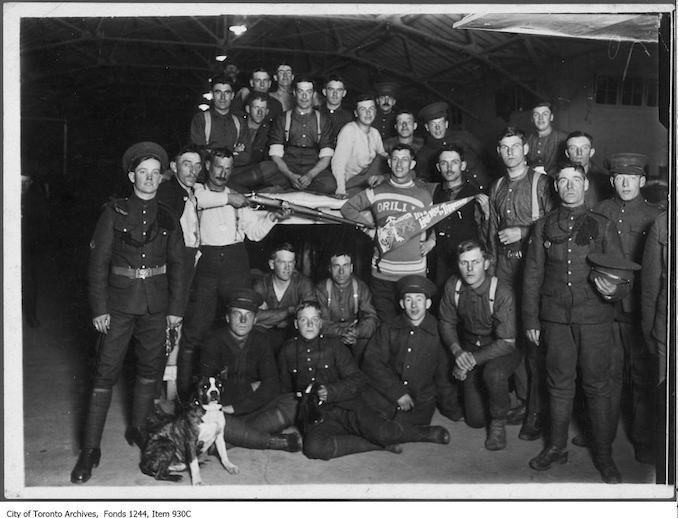 Soldiers at Camp Borden. - 1915 - Vintage Animal Photographs
