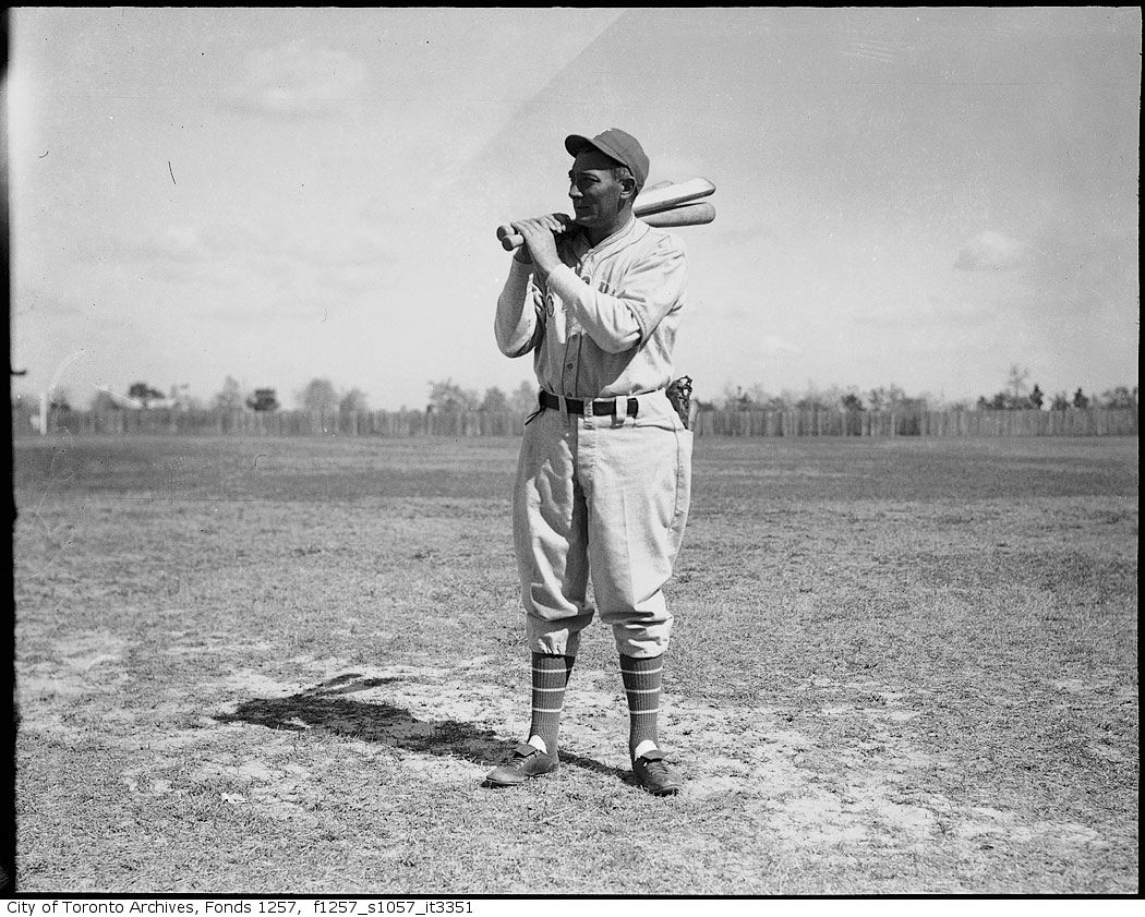 Tony Lazzeri, Toronto Maple Leafs Baseball Club manager, at spring training camp, Florida 1939 1940