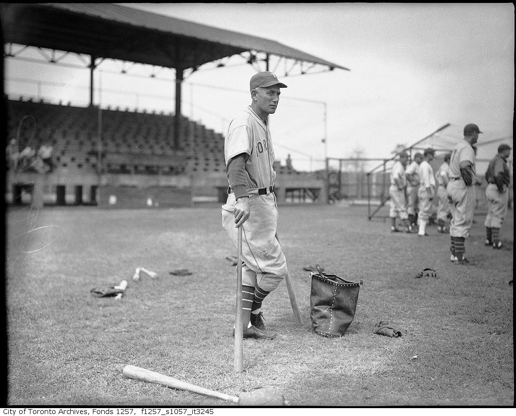 Toronto Maple Leafs Baseball club member, possibly Sam Jones 1940-1960