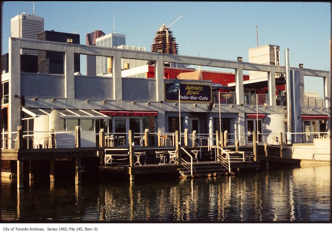 1980-90 - Water's Edge restaurant at Harbourfront Centre.