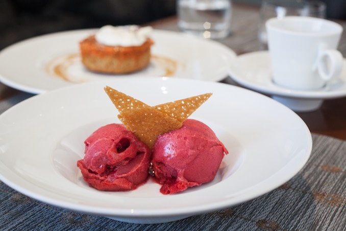 RASPBERRY SORBET at diwan
