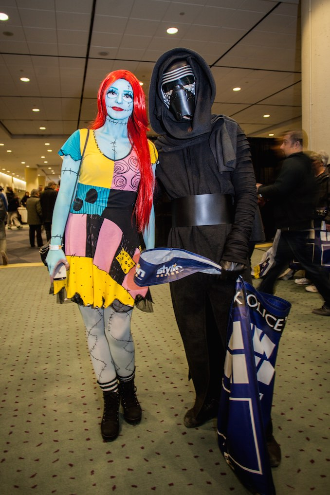 Tim Burton's Sally from Nightmare Before Christmas and Kylo Ren from The Force Awakens
