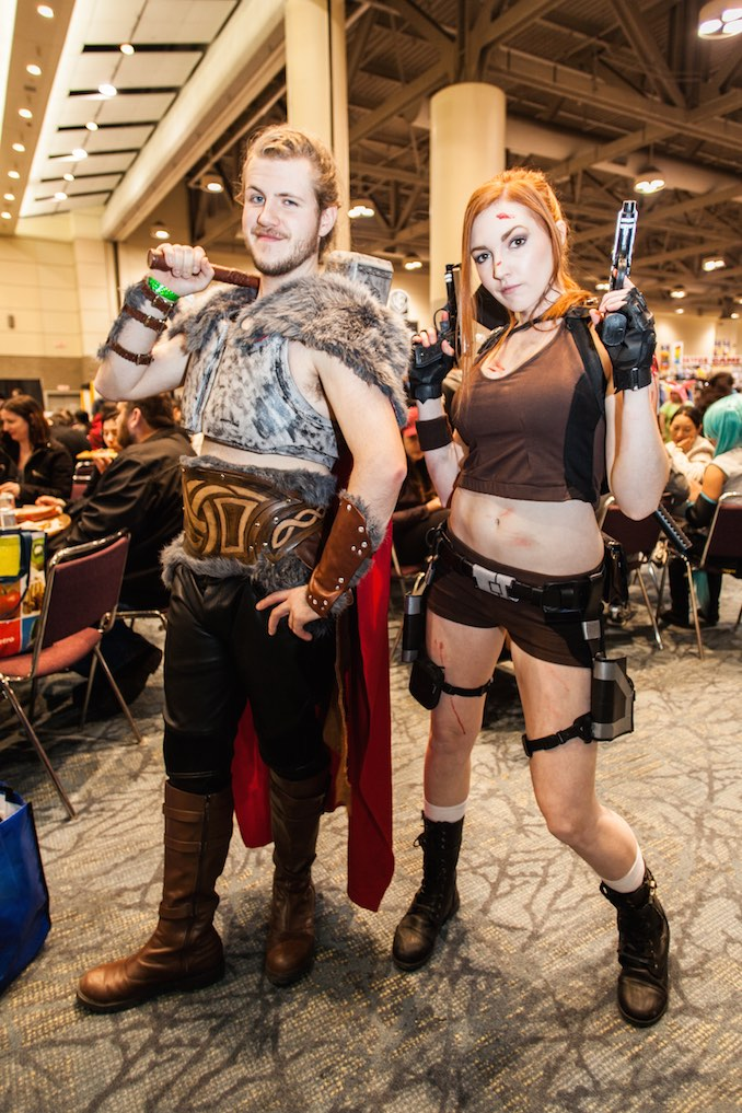 Thor and Tomb Raider's Lara Croft
