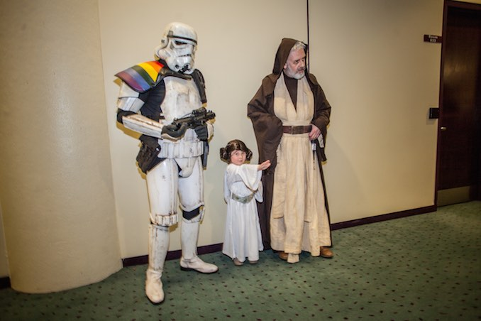 Star Wars Trooper, Baby Leia and Obi Wan Kenobi
