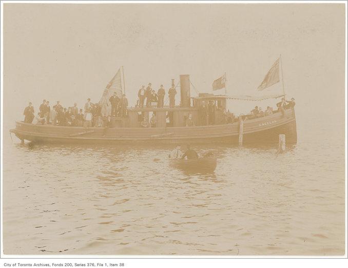 189? - Tug Neelon Ashbridge's Bay - vintage boating photographs