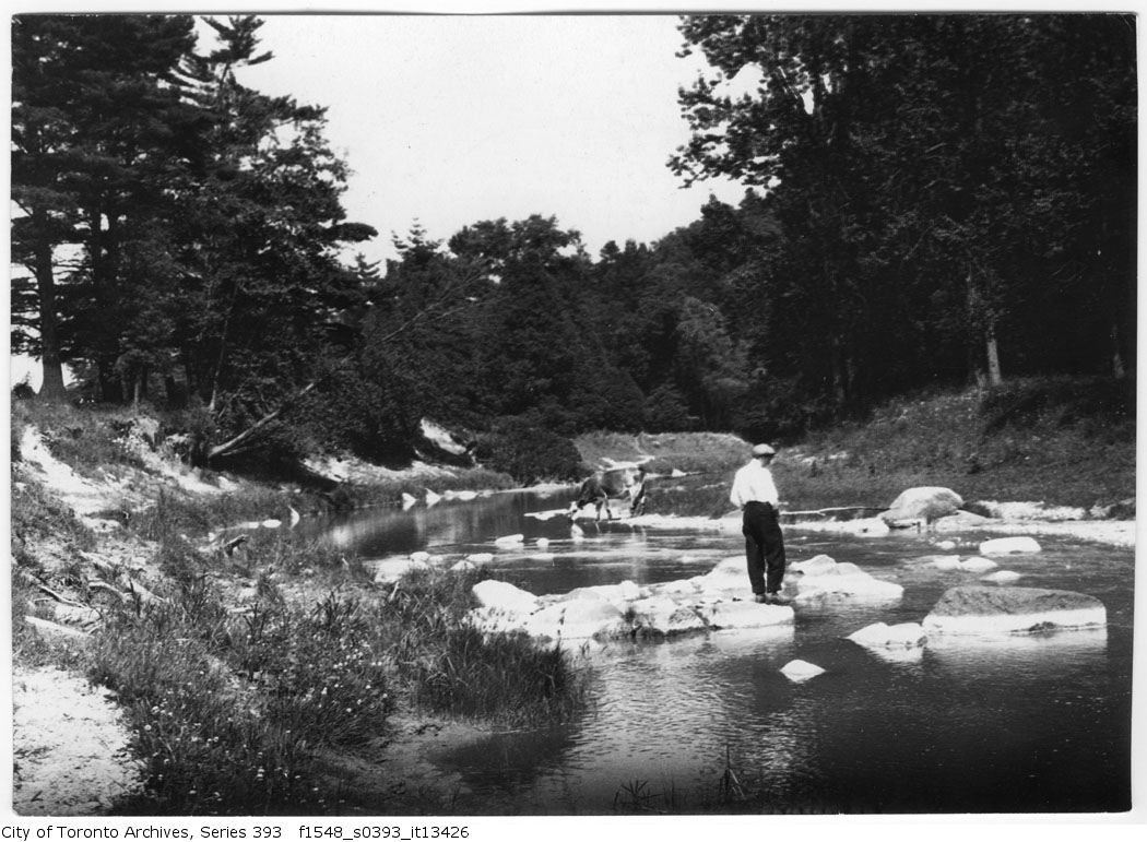 1916 - July 9 - Don Valley - Harold fishing - Vintage Fishing Photographs