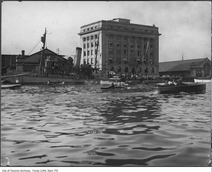 1917 - Toronto Harbour Commission building and submarine