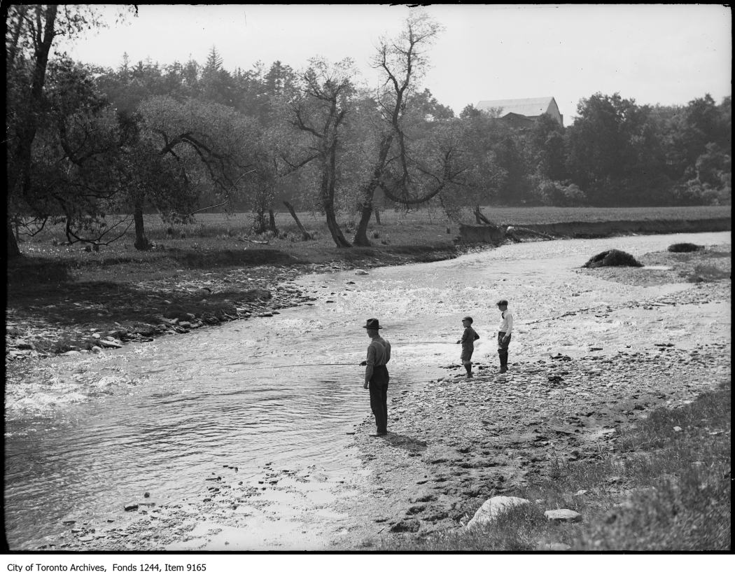 1920 - Fishing in a creek, Bronte - Vintage Fishing Photographs