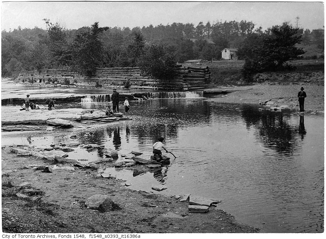 1920 - June 13 - Fishing Humber River near Lambton - Vintage Fishing Photographs