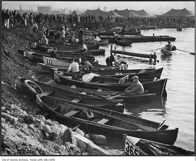 1927 - Boats for Wrigley marathon swim, CNE