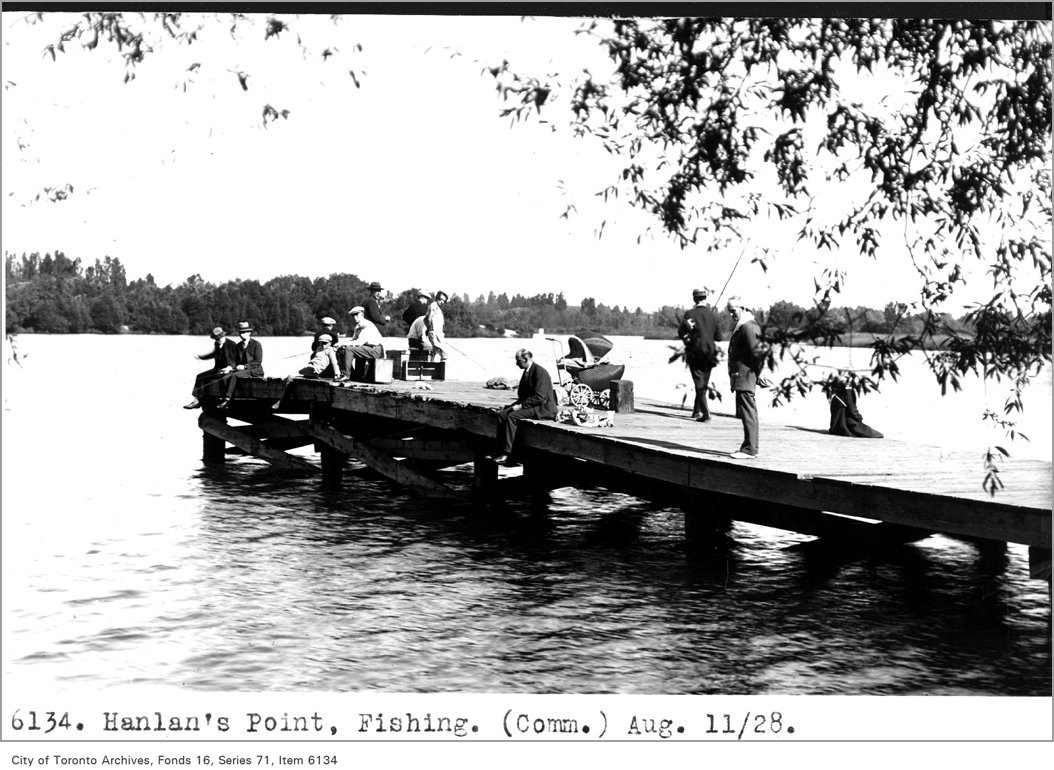 1928 - August 11 - Hanlan's Point, fishing, (Commercial Department) - Vintage Fishing Photographs