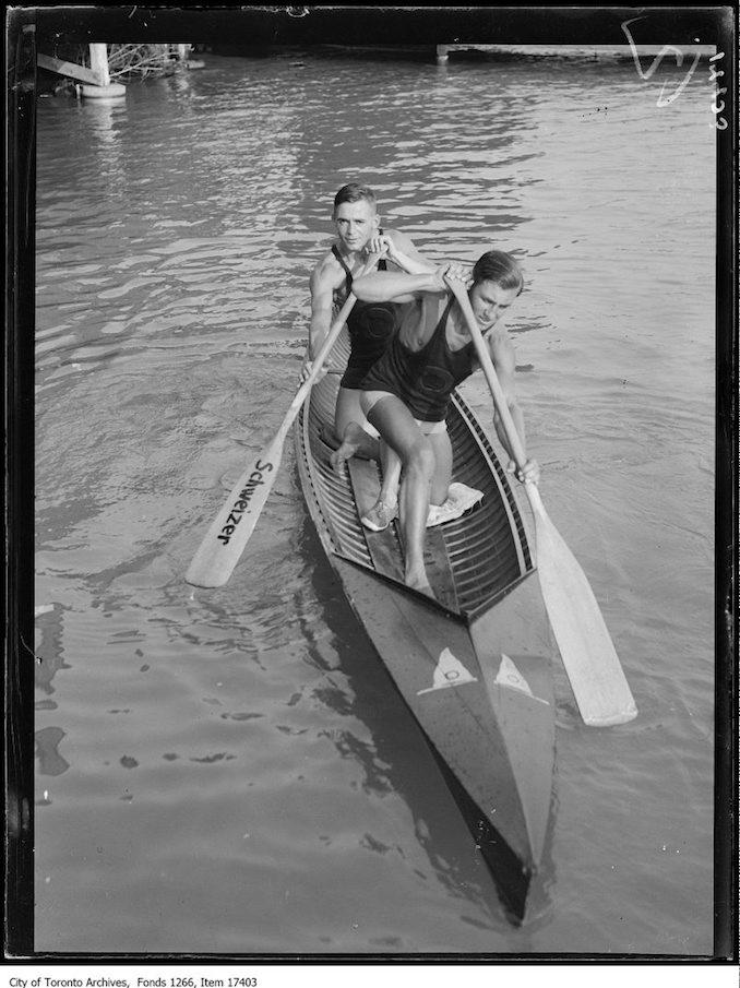 1929 - Toronto Canoe Club, Danny McDonald, Max Hoffman