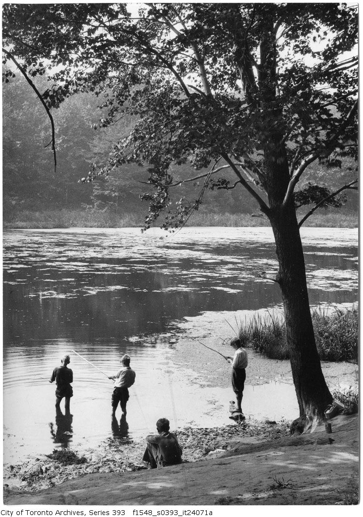 1933 - Sept 13 - High Park - studies fishing Grenadier Pond - Vintage Fishing Photographs