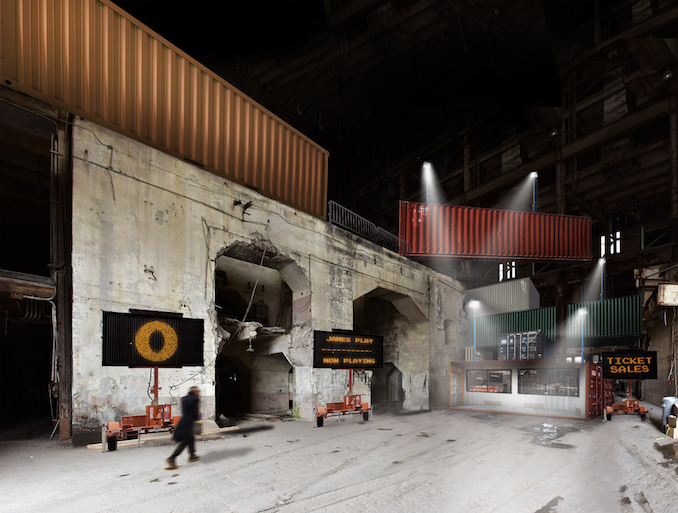 Rendering of the front lobby of the Hearn at Luminato Festival - courtesy of PARTISANS and Norm Li