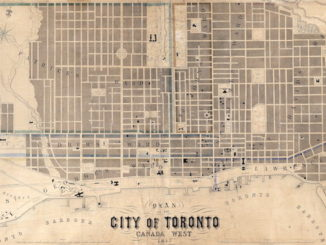 1857 - Plan of the City of Toronto, Canada West, Fleming Ridout & Schreiber copy - Vintage Toronto Maps