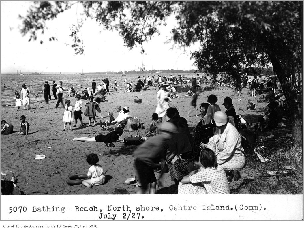1927 - Bathing beach, north shore, Centre Island, (Commercial Department)