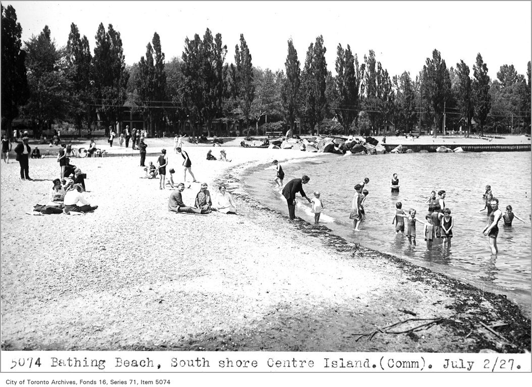 1927 - Bathing beach, south shore, Centre Island, (Commercial Department)