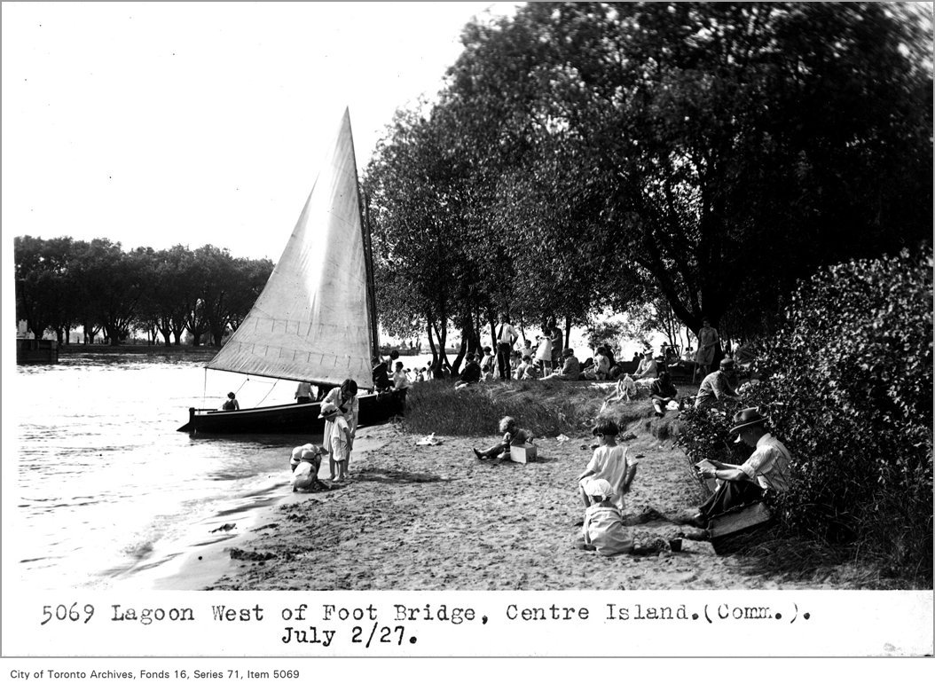 1927 - Lagoon, west of foot bridge, Centre Island, (Commercial Department)