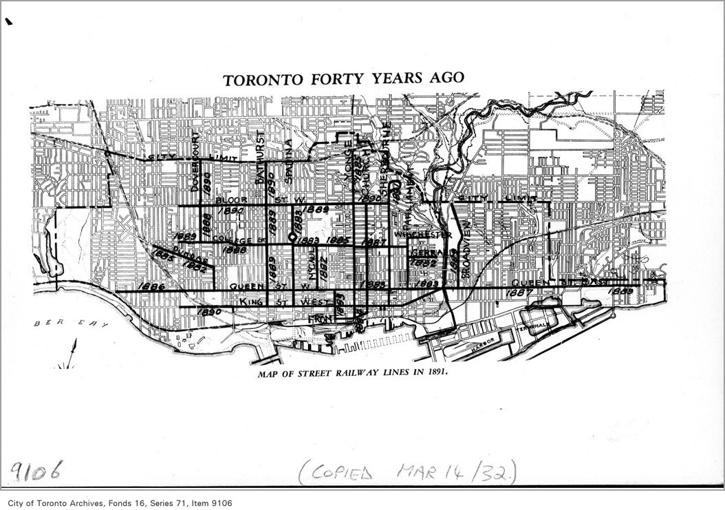 1932 - Toronto forty years ago