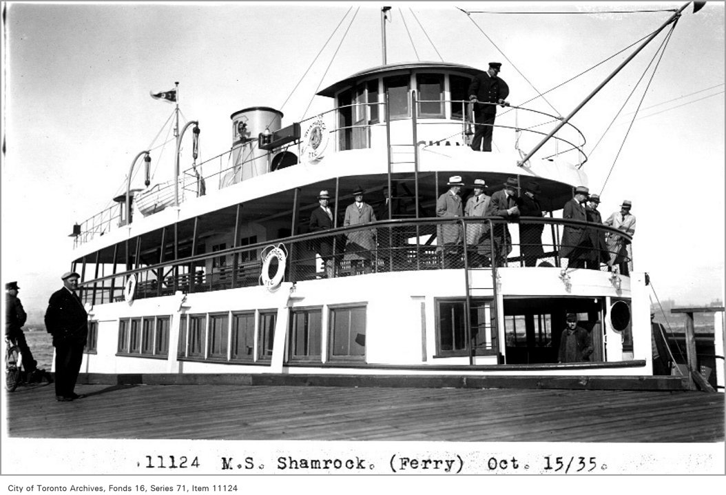 1935 - M.S. Shamrock, (Ferry Department)